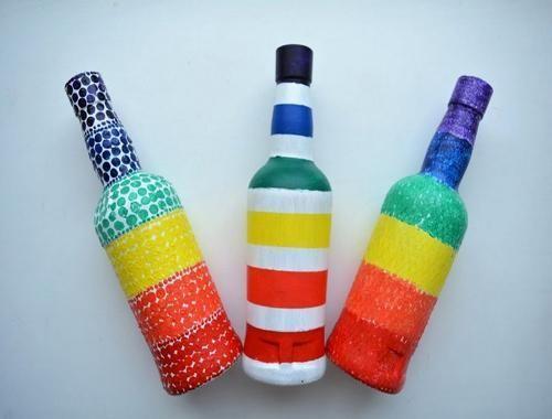 أفكار تدوير النفايات المنزلية Glass Bottle Crafts Bottles Decoration Bottle Crafts