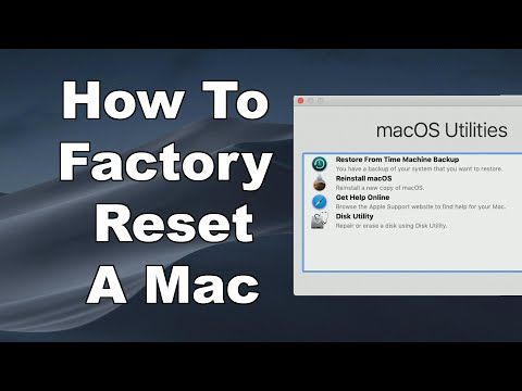 How To Erase Factory Reset A Mac Reinstall Macos Step By Step Guide Youtube In 2020 Step Guide Reset Mac