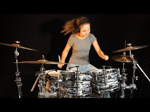 My Sharona The Knack Drum Cover By Sina Youtube Drum Cover Drums Girl Drummer