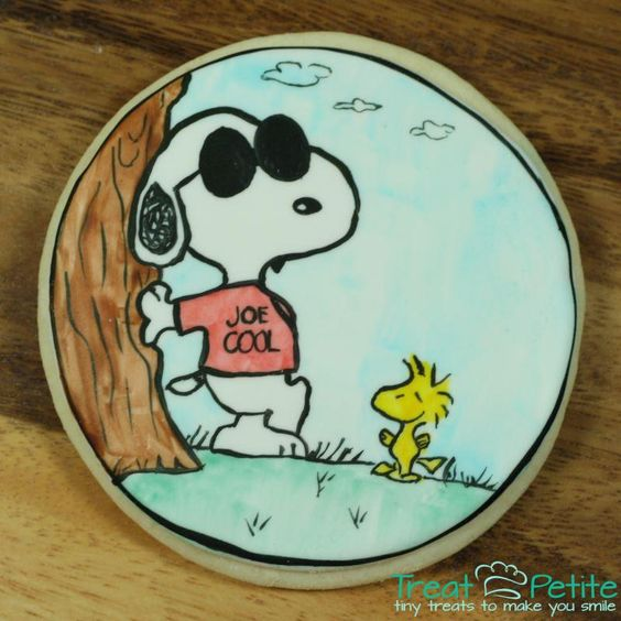 Hand Painted Snoopy Cookie