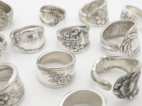 silver spoons silver rings and friends on