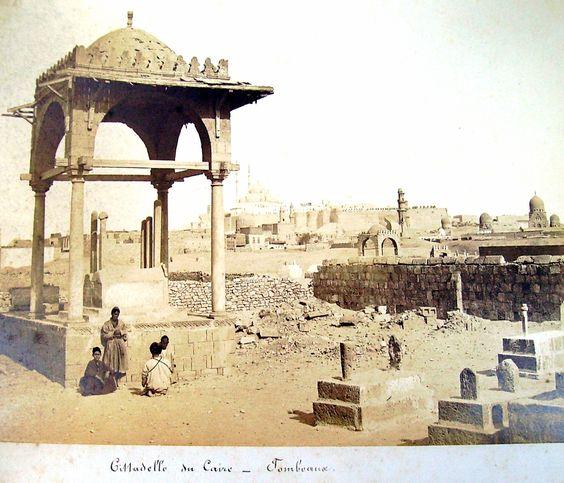 Cairo Citadel, Tombs. Henri Béchard, active in Cairo around 1868-1880.
