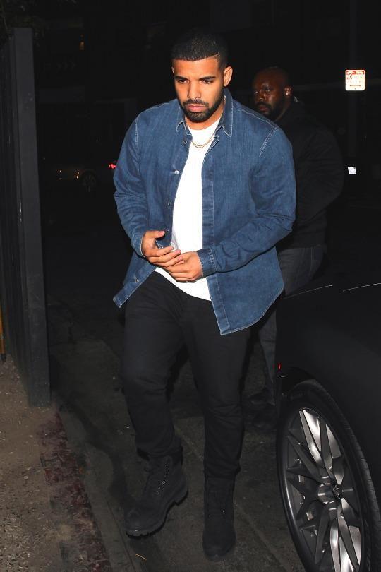 Drake wearing Timberland Classic 6 Boots in Black Nubuck ...