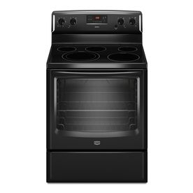 Shop Maytag 30-in Smooth Surface Freestanding 5-Element 6.2 cu ft Electric Range (Black) at Lowes.com