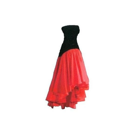 Princess Diana Red and Black Flamenco Dress ❤ liked on Polyvore featuring dresses, gowns, long dresses and dance