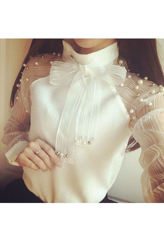 damen bluse langarm elegant
