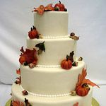 Fall Wedding Cake by Pink Cake Box