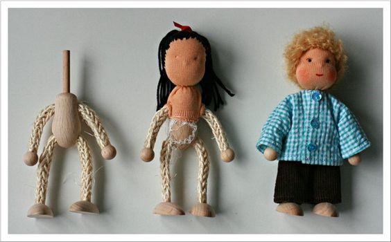 Mit Nadel und Faden: Puppenstubenpüppchen