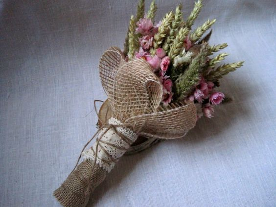Wedding country bouquet shabby chic pastel by FlowerDecoupage, €24.75