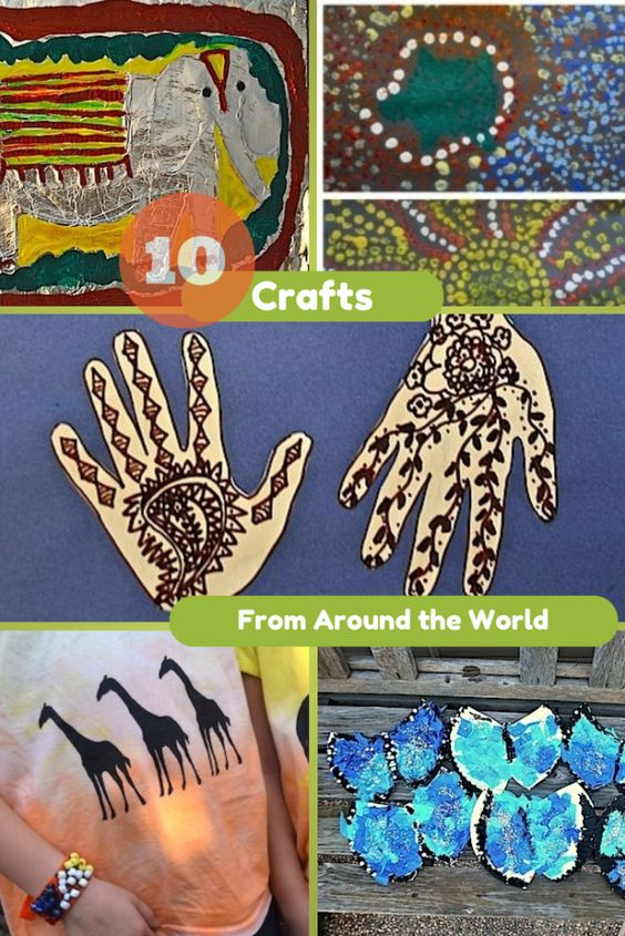 10 Crafts from Around the World featured from Kid World Citizen