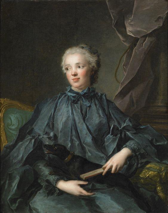 Anne Thoynard de Jouy, Comtesse d'Esparbès de Lussan (1739 - 1825). / By J.M. Nattier.