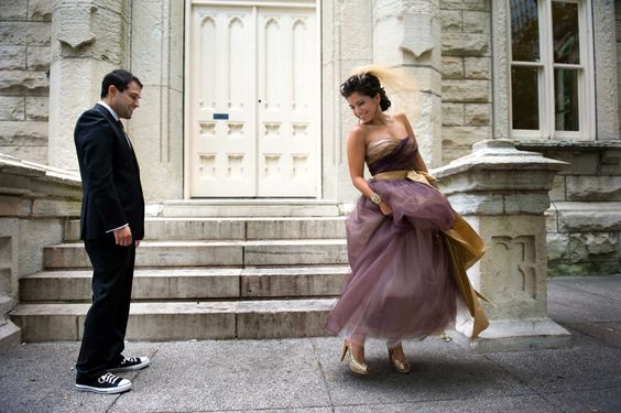 Gorgeous purple wedding gown in Chicago, IL.  Photo by Candice C. Cusic Photography  www.CusicPhoto.com