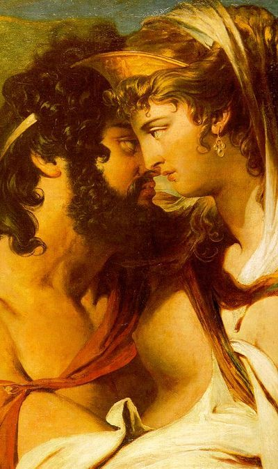 Zeus and Hera, in a gold-red haze, by James Barry