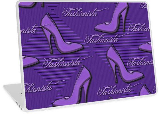 Purple Fashionista Shoe Lovers Pattern   Design available for PC Laptop, MacBook Air, MacBook Pro, & MacBook Retina