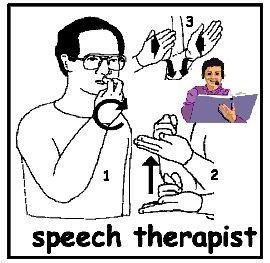 sign: SPEECH THERAPIST for BSHM - Meet Miss Speechie