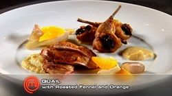Quail with Roasted Fennel and Orange