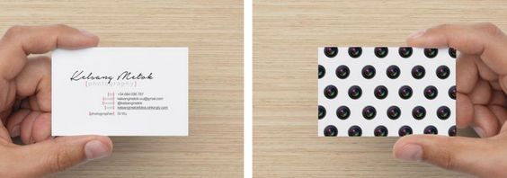 Photographer Business Card Designed by Kelsang Metok