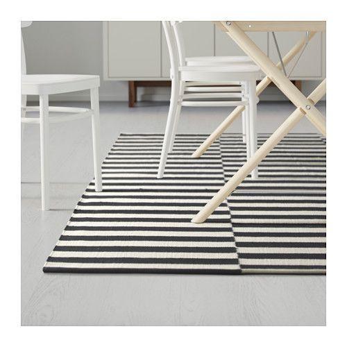 Tapis Raye Noir Et Blanc In 2020 Ikea Flatwoven Ikea Stockholm