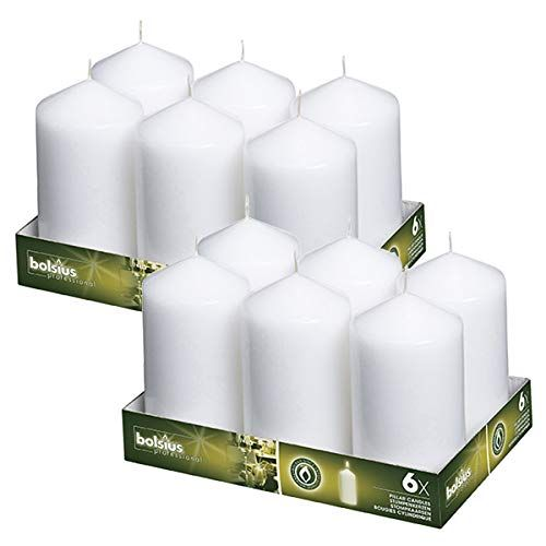 2X4 Inches Brand New Bolsius Tray Of 20 Ivory Pillar Candles Aprox