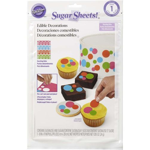 Dazzling Dots Pre-Cut Sugar Sheets! Edible Decorating Paper