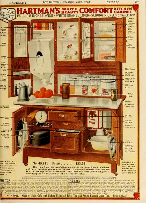Vintage Hoosier Style Cabinet Advertisment Let Hartman feather your nest.: