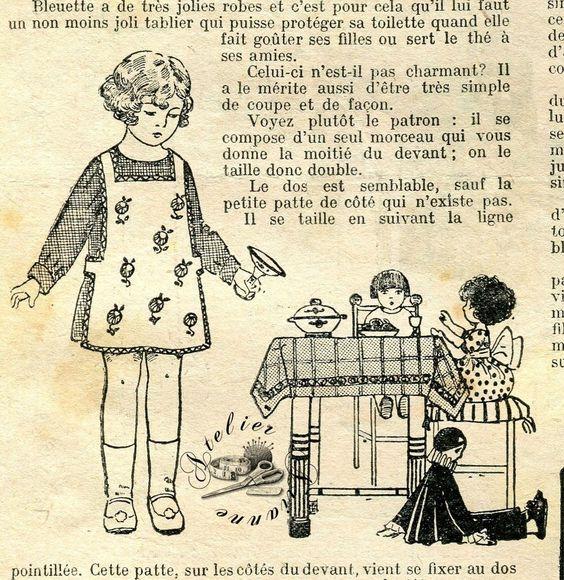 ❤ PATRON original pour poupée Bleuette , 21 Octobre 1926 , La semaine de Suzette : 2,99 EUR