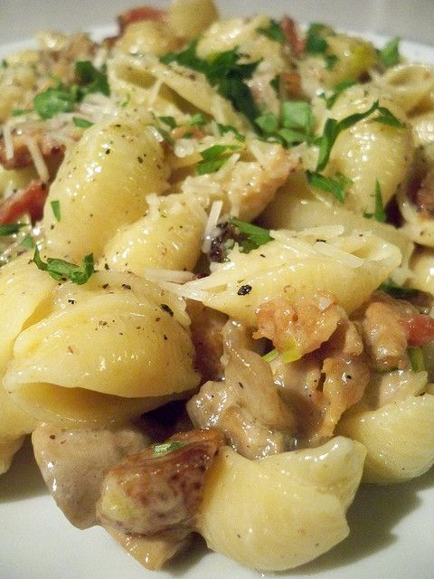 Pasta with Pancetta, Leek and Mushrooms...Gordon Ramsey recipe
