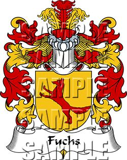 Fuchs Family Crest apparel, Fuchs Coat of Arms gifts