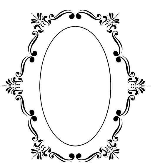Moldura Arabesco Vetor Rosa Pesquisa Francisc Borders And Frames Mirror Frame Diy Antique Images