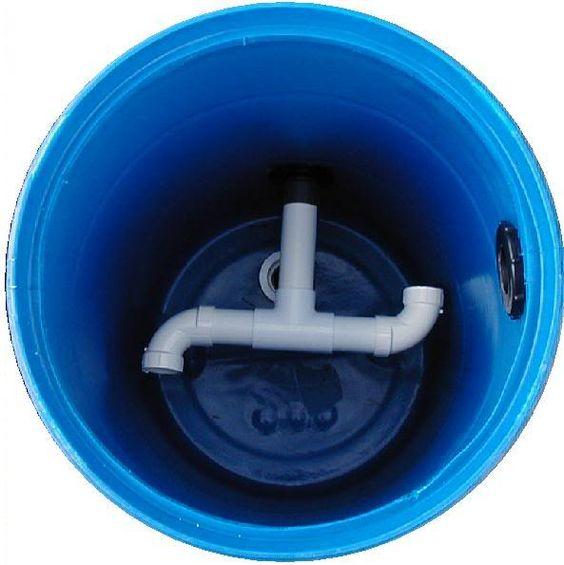 Diy 55 gallon barrel pond filter aquaponics filter for Pond pre filter diy