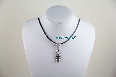 Fashion-Charm-Exquisite-Pendant-Leather-Charm-Choker-Angel-Bib-Necklace