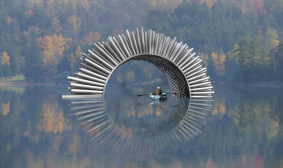 Outdoor sound sculpture to be 'played' by wind.   Artist Luke Jerram is preparing an outdoor 'acoustic pavilion' called Aeolus