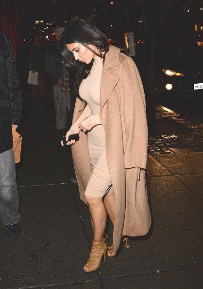 Kim Kardashian is seen outside 'Serafina Restaurant in Soho December 9, 2014 in New York City.: