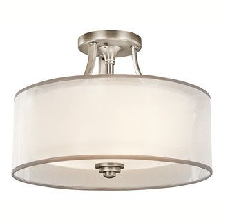 Kichler 42386 Transitional Three Light Semi-flush Ceiling Fixture LACEY COLLECTION