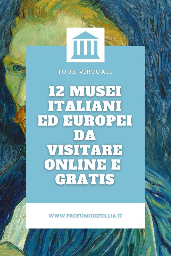 Tour virtuale musei online: immagine Pinterest