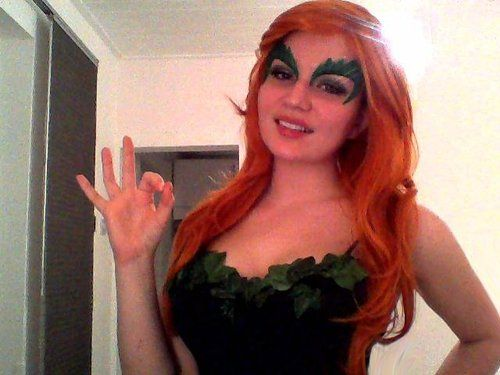Poison Ivy WIP!these beautiful Ivy eyes were sent to me as a present by the AMAZING 4th WallDesign <3 go and check them out, if you need any superhero masks, helmets, belts or props, these are the people you need!