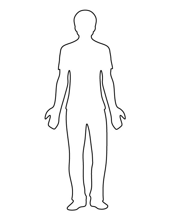 Man Outline man pattern. use the printable outline for crafts ...
