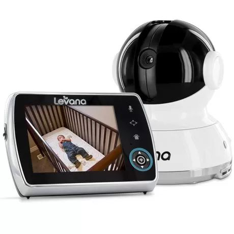 """LEVANA® Keera™ 3.5"""" LCD, Pan/Tilt/Zoom Digital Baby Video Monitor with 24hr Battery, Touch Panel, Talk to Baby™ Intercom & SD Video Recording available from Walmart Canada. Get Baby online at everyday low prices at Walmart.ca"""