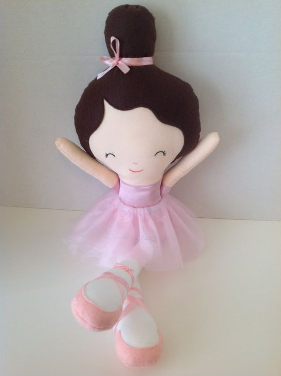 Ballerina Handmade Cloth Doll ~ A wonderful gift to a special girl!! on Etsy, $25.00