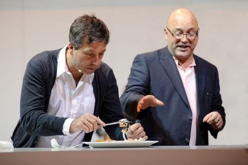 John Torode and Gregg Wallace at the BBC Good Food Show
