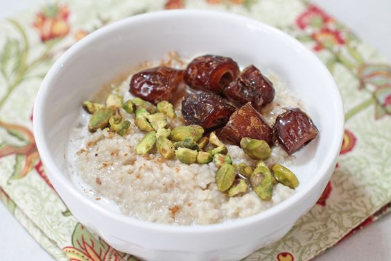 The Gilgamesh: Take a culinary journey by topping your favorite bowl of oatmeal with pistachios, chopped dates, a drizzle of honey, milk and a dash of cardamom (or cinnamon). #BRMOatmeal