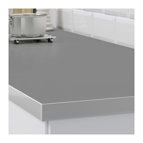 Hallestad Countertop Double Sided White Aluminum Effect