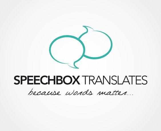 cr ation du logo de speechbox translates traduction. Black Bedroom Furniture Sets. Home Design Ideas