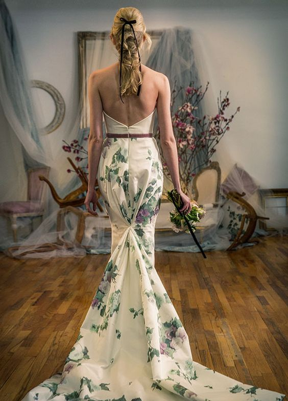 Stunning wedding dresses for non traditional brides page for Non wedding dresses for brides