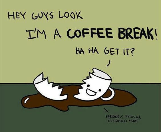 We love taking coffee breaks with Pinterest and coffee. How about you? #Coffee #Humor #MrCoffee: