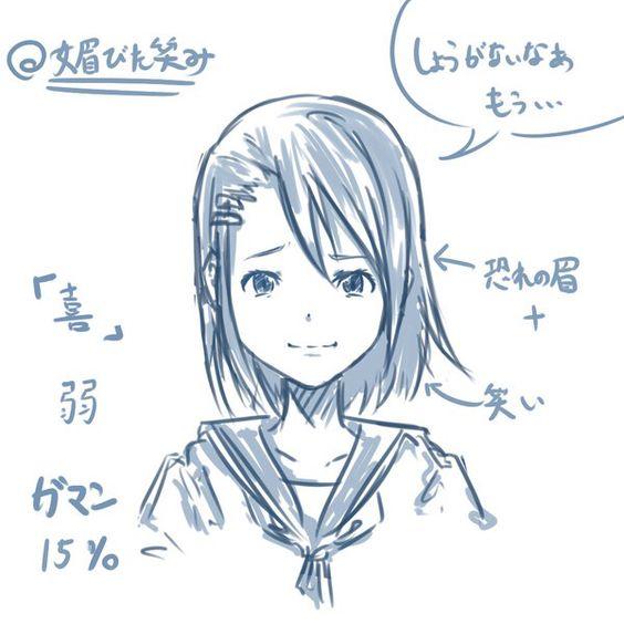 「喜」の表情の描き方 | shori  http://www.pixiv.net/member_illust.php?mode=medium&illust_id=33482593