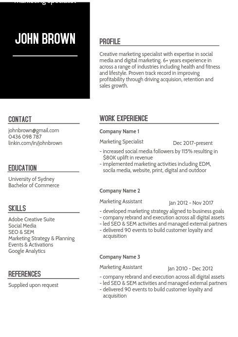 Resume Cv Template Cv Template Education Poster English Cv Template