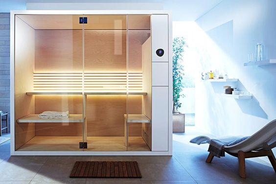 bad-sauna-planen-beachten-modernes-design-kabine-liege-badezimmer
