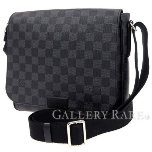 LOUIS-VUITTON-Messenger-Bag-Damier-Graphite-District-PM-N41260-Authentic-3144626