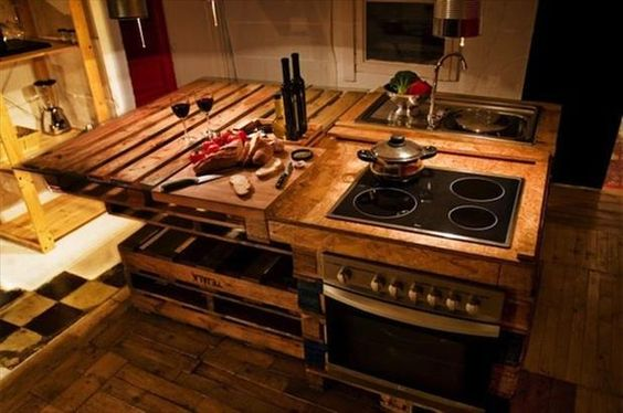 pallet ideas (6) Larry Home Projects Pinterest Pallet kitchen